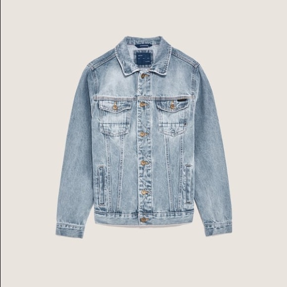 a637b24d Zara Jackets & Coats | Man Basic Denim Jacket In S | Poshmark